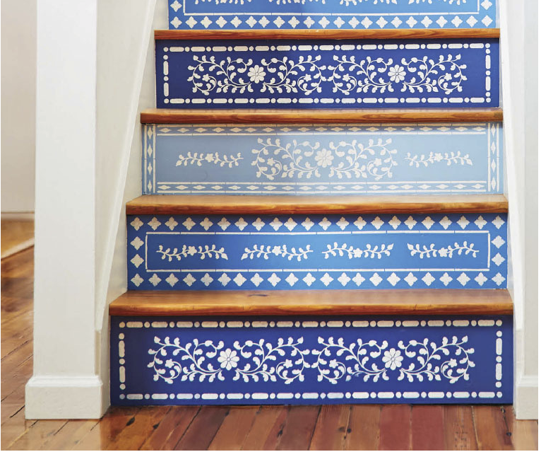 Paint Ideas | Refresh Staircases with Stencils