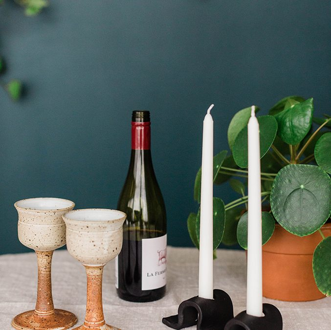 DIY Air-Dry Clay Candle Holder