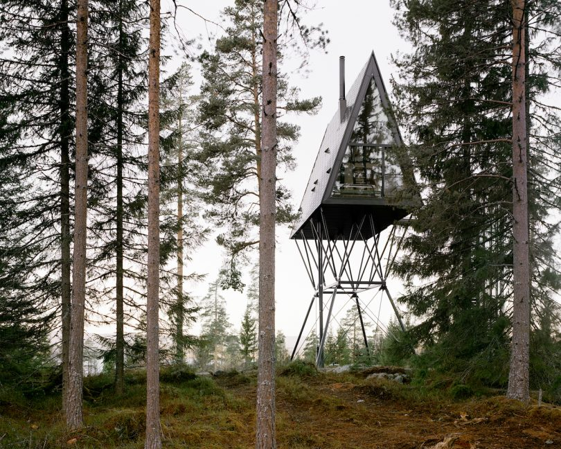 A-Frame PAN Cabins on Stilts Let You Cozy Up in the Treetops of a Finnish Forest